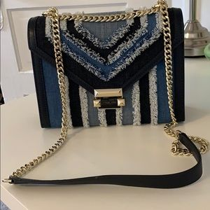 Michael Kors denim Whitney bag
